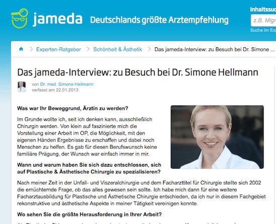 Jameda Interview