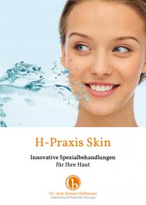 Flyer zur Hautbehandlung - H-Praxis Skin